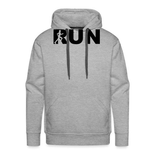 run running woman - Männer Premium Hoodie