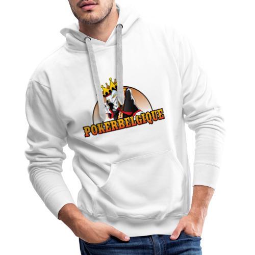 Logo Poker Belgique - Sweat-shirt à capuche Premium pour hommes