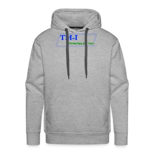 logo touletmarc.info + slogans - Sweat-shirt à capuche Premium pour hommes