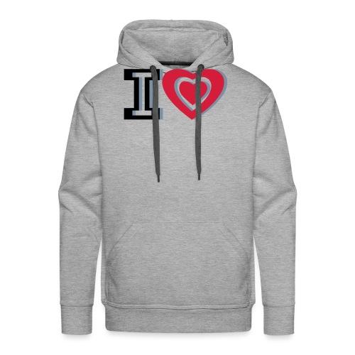 I LOVE I HEART - Men's Premium Hoodie