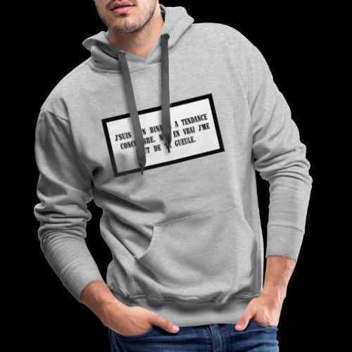 FOUT - Sweat-shirt à capuche Premium pour hommes