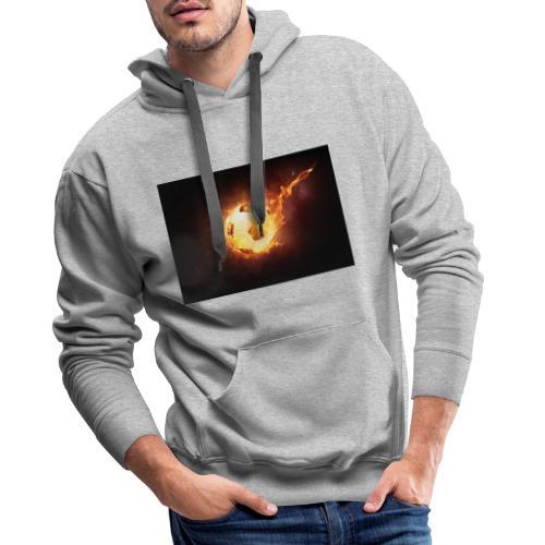Ballon en feu - Sweat-shirt à capuche Premium pour hommes