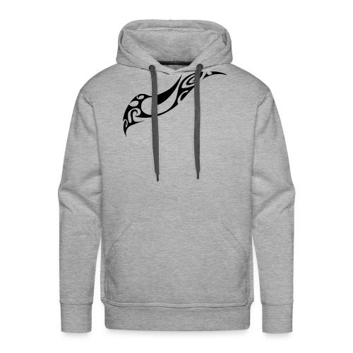 vague maori noir - Sweat-shirt à capuche Premium pour hommes