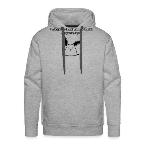 adoptez un lapin ! - Sweat-shirt à capuche Premium pour hommes