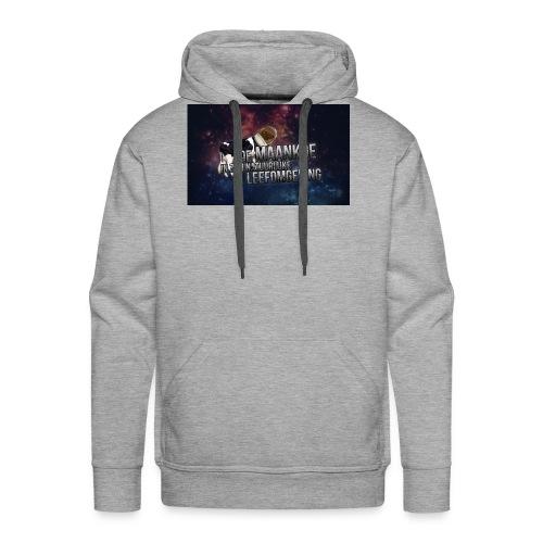 maankoe met agtergront - Mannen Premium hoodie