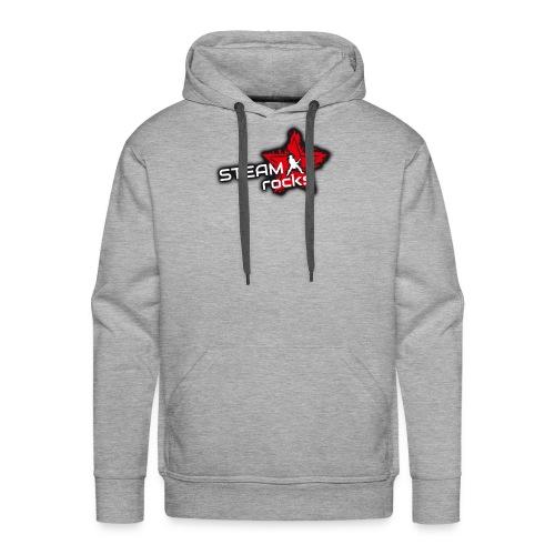 SteamRocks RGB WeisseSchrift aufTranzparenz 1000px - Männer Premium Hoodie