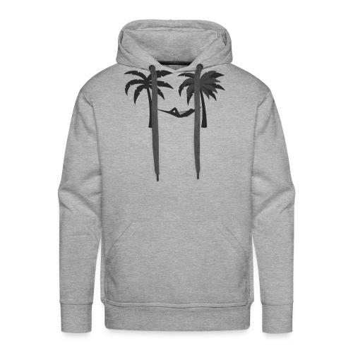 Hängematte mitzwischen Palmen - Männer Premium Hoodie