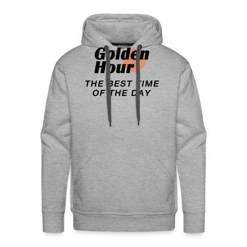 Golden Hour logo & slogan - Men's Premium Hoodie