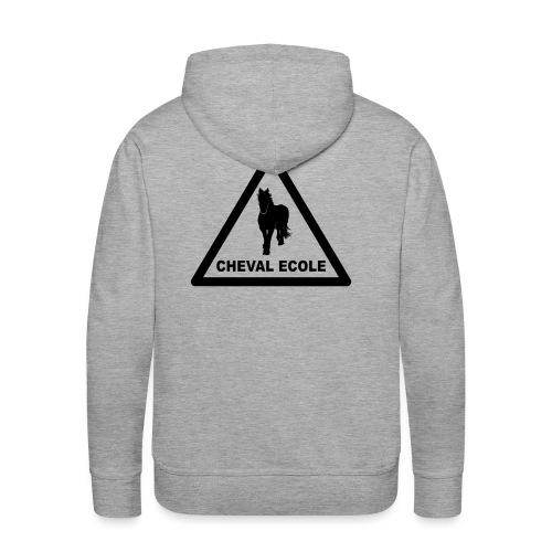 chevalecoletshirt - Sweat-shirt à capuche Premium pour hommes