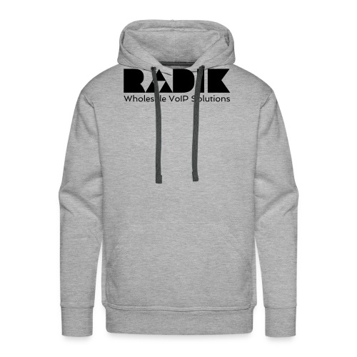 radik logo 1kleur wholesalevoipsolutions - Mannen Premium hoodie