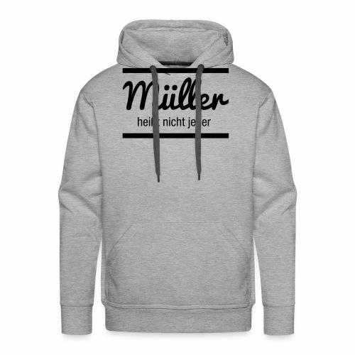 Müller Namensschild - Männer Premium Hoodie