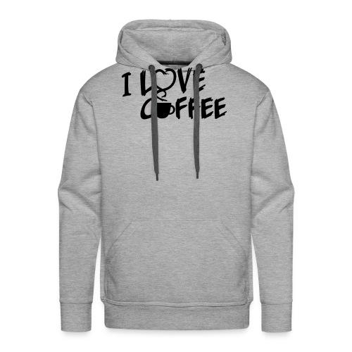 I love Coffee / Ich liebe Kaffee 1 color - Männer Premium Hoodie