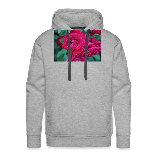 Rosa preciosa - Sudadera con capucha premium para hombre