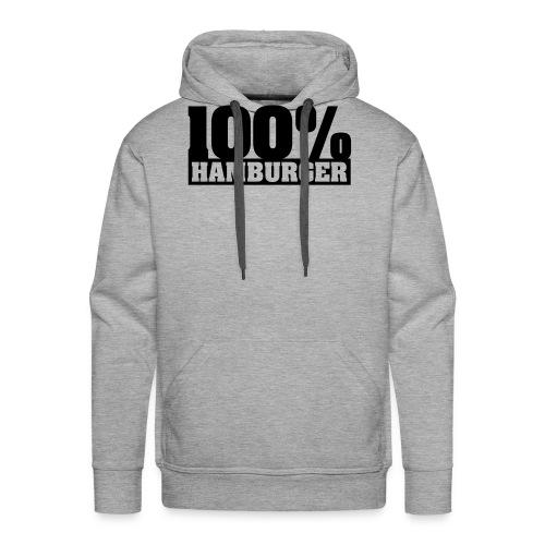 100% Hamburger Typo 2 - Männer Premium Hoodie