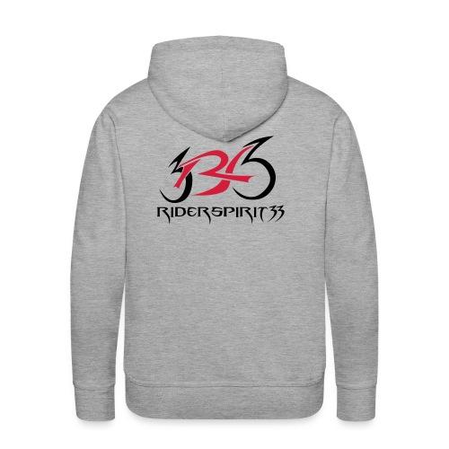 logocoeurblanc - Sweat-shirt à capuche Premium pour hommes
