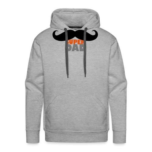 superdad moustache - Männer Premium Hoodie
