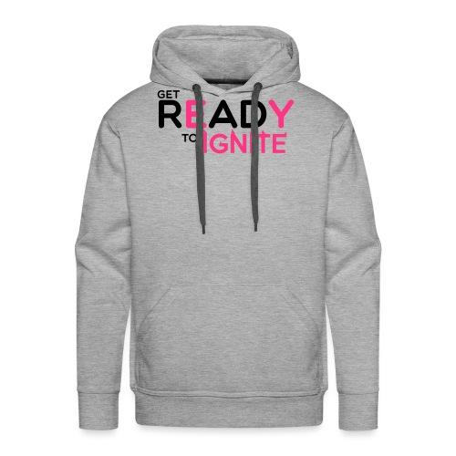 GET READY - Sweat-shirt à capuche Premium pour hommes