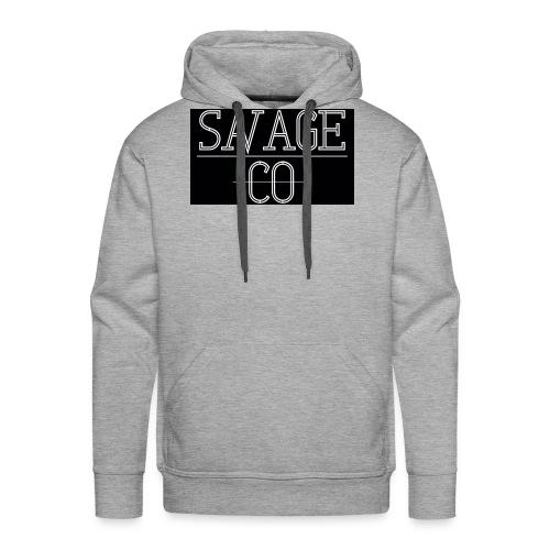 SAVAGE CO. - Sudadera con capucha premium para hombre