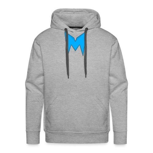 Tee-shirt Madcrow Noir & Logo Bleu - Sweat-shirt à capuche Premium pour hommes