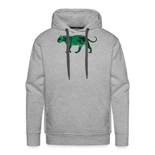 Tiger in the jungle... - Sweat-shirt à capuche Premium pour hommes