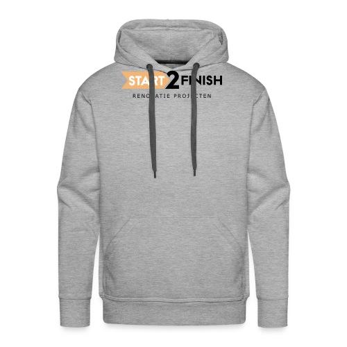 Start to finish - Mannen Premium hoodie