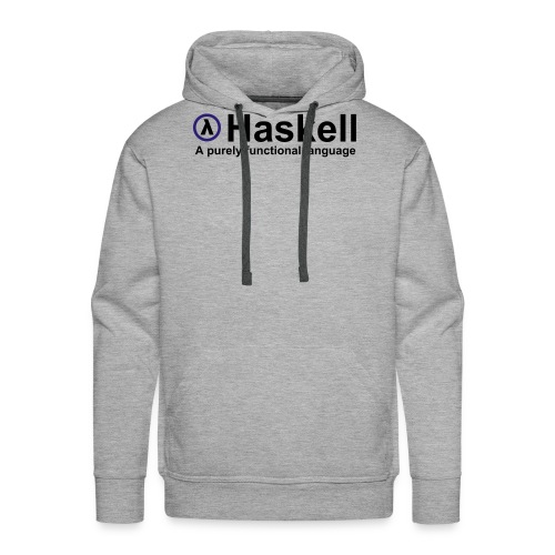Haskell, A purely functional language (for fully - Men's Premium Hoodie
