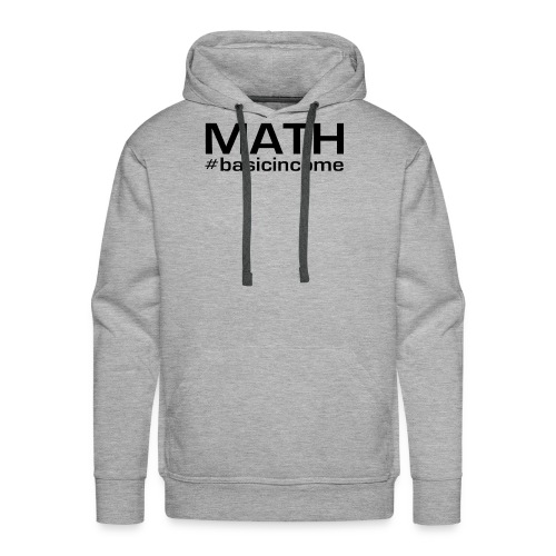 math-black - Mannen Premium hoodie