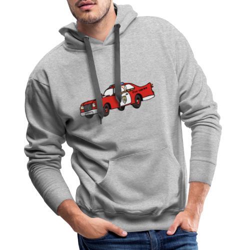 fire chief car - Männer Premium Hoodie