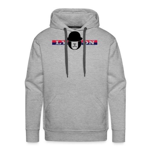 Motif Lyon + logo - Sweat-shirt à capuche Premium pour hommes