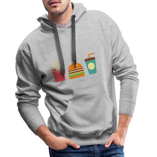 Fast Food - Felpa con cappuccio premium da uomo