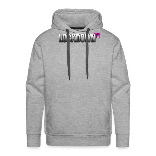 lockdown tv logo 2 - Männer Premium Hoodie