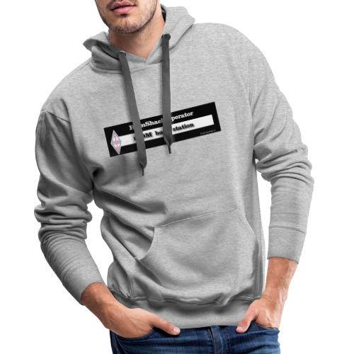 Tshirt Back Text iCOM - Men's Premium Hoodie