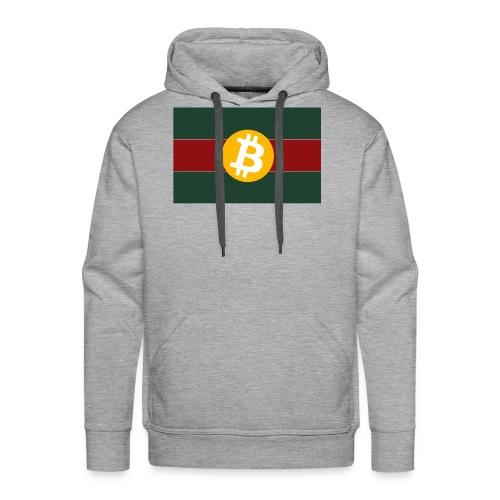Bitcoin Logo Greed Red Flag - Männer Premium Hoodie