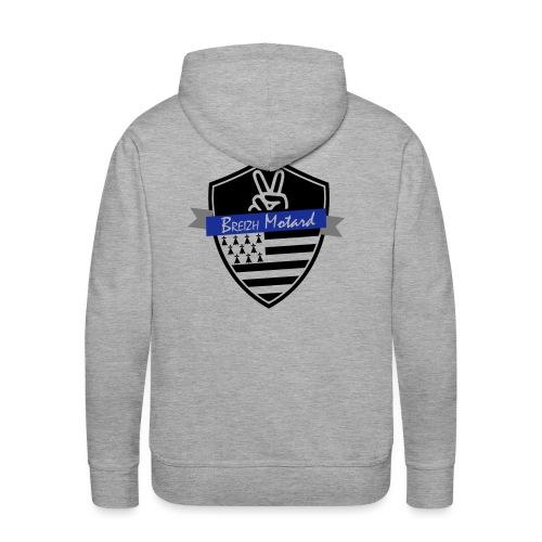 Breizh Motard Vestes et gilets - Sweat-shirt à capuche Premium pour hommes