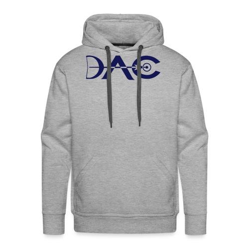 Logo DAC simplifie petit 1 coul - Sweat-shirt à capuche Premium pour hommes