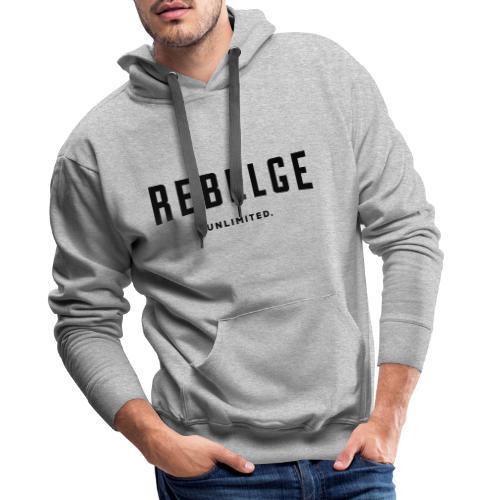 Rebelge België Belgique - Sweat-shirt à capuche Premium pour hommes