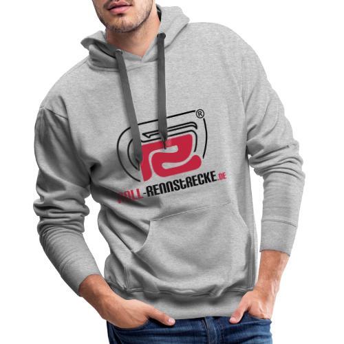 Roll-Rennstrecke Logo - Männer Premium Hoodie