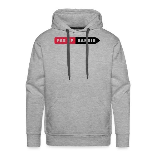04 on white - Mannen Premium hoodie