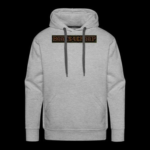 beats4cheap camo patt - Men's Premium Hoodie