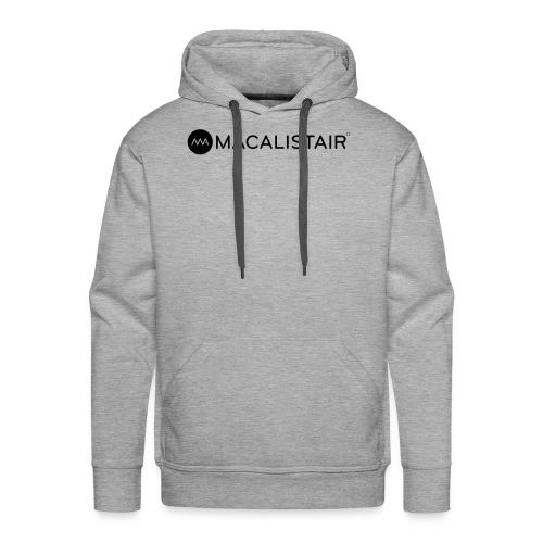 macalistair_logo+tekst - Mannen Premium hoodie