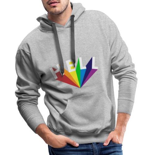 Hell Rainbow White - Männer Premium Hoodie