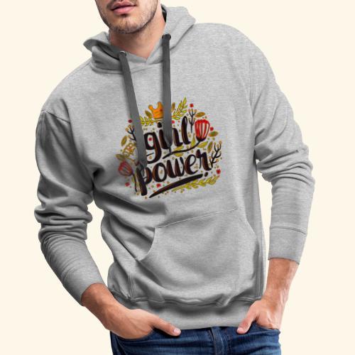 Girl Power - Sudadera con capucha premium para hombre