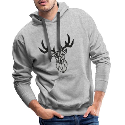 Cerf - Hirsch - Deer - Sweat-shirt à capuche Premium pour hommes