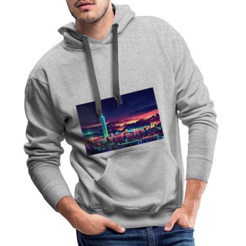 Neon city 1.0 - Herre Premium hættetrøje
