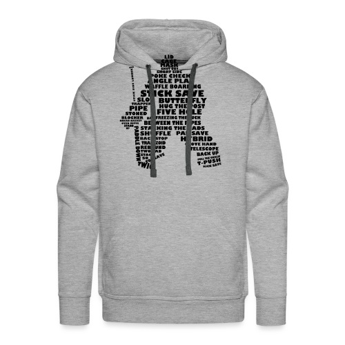 Language of Hockey (Goalie version, black print) - Men's Premium Hoodie