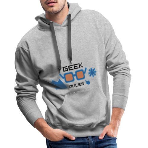 geek rules - Sudadera con capucha premium para hombre