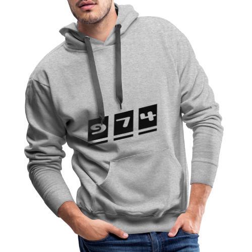 974, La Réunion - Sweat-shirt à capuche Premium pour hommes