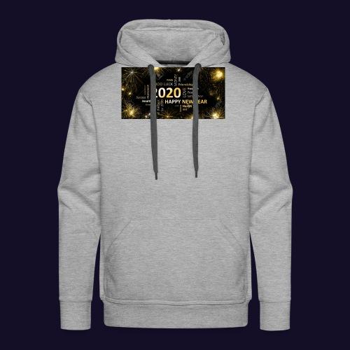 90911595 black golden new year card with happy new - Männer Premium Hoodie