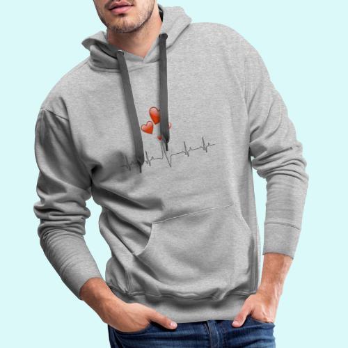 electrocardiogramme - Sweat-shirt à capuche Premium pour hommes