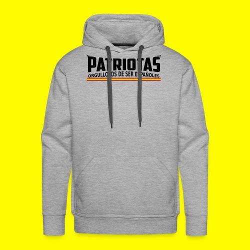 Patriotas españoles logo - Sudadera con capucha premium para hombre